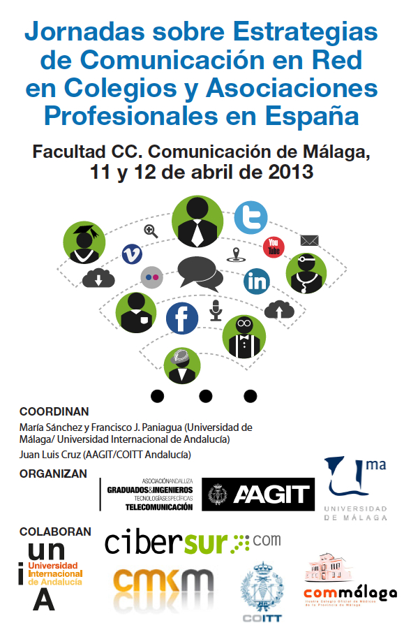 Cartel Jornadas Comunicación Colegios Profesionales