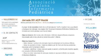 ¿Nestlé dando formación sobre lactancia materna a enfermeras de pediatría?