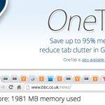 OneTab: que no te dominen las pestañas del navegador
