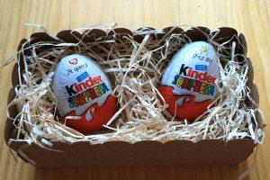 Huevos Kinder con mensaje sorpresa