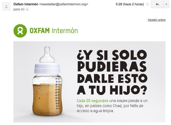 newsletter-oxfam-intermon-biberon-agua-sucia