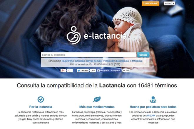 webs sobre lactancia materna: e-Lactancia