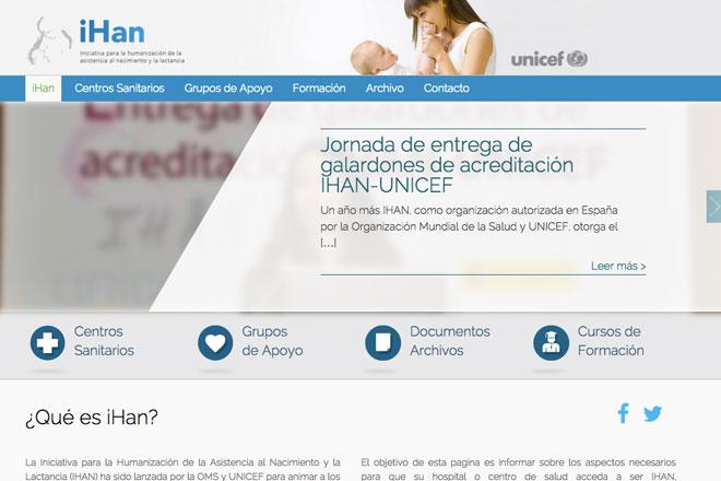 webs sobre lactancia materna: IHAN