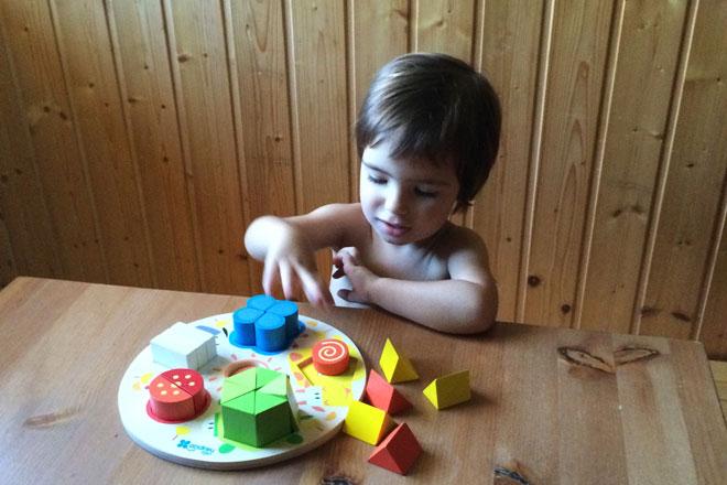 Test de juguetes: Encaje formas – numérico