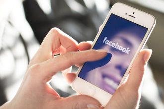 Móvil con Facebook